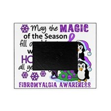 D Fibromyalgia Christmas Penguins Picture Frame