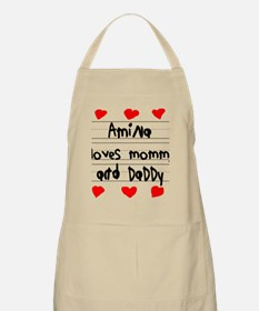 Amina Loves Mommy and Daddy Apron