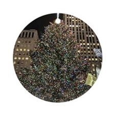 Christmas Tree - Rockefeller Center Round Ornament