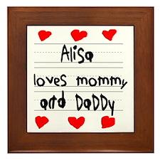 Alisa Loves Mommy and Daddy Framed Tile