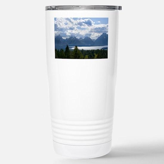 Grand Tetons Stainless Steel Travel Mug