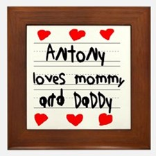 Antony Loves Mommy and Daddy Framed Tile