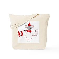 Flying Fun Santa Mouse Tote Bag