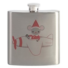 Flying Fun Santa Mouse Flask
