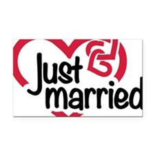 Just married Rectangle Car Magnet