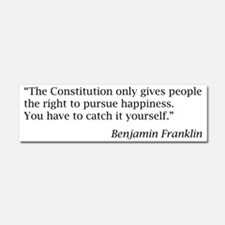 """Franklin: """"The Constitution only Car Magnet 10 x 3"""