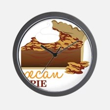 Pecan Pie Wall Clock