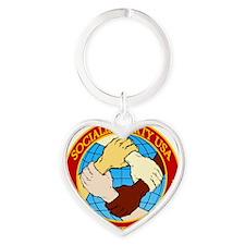 Socialist Party USA Logo Heart Keychain