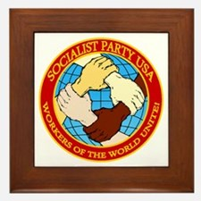 Socialist Party USA Logo Framed Tile