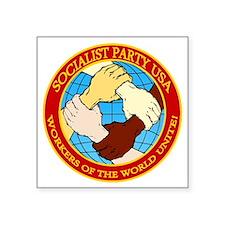 "Socialist Party USA Logo Square Sticker 3"" x 3"""