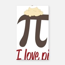 I Love Pi Rectangle Car Magnet