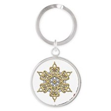 2012 APSFA Holiday Snowflake Round Keychain
