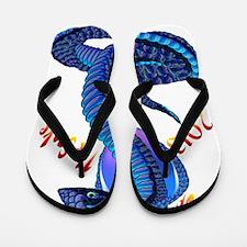 Year Of The Snake-lettered Flip Flops