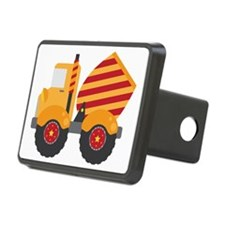 Red Cement Truck Hitch Cover