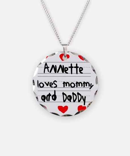Annette Loves Mommy and Dadd Necklace