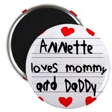 Annette Loves Mommy and Daddy Magnet