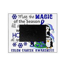 D Colon Cancer Christmas Penguins Picture Frame