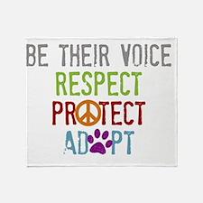 Be Their Voice Throw Blanket