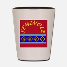 SEMINOLE INDIAN PATCHWORK Shot Glass