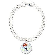 Santa Ornament Charm Bracelet, One Charm