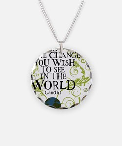 bethechange_earth_white Necklace
