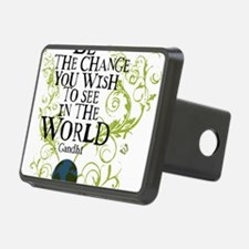 bethechange_earth_white Hitch Cover