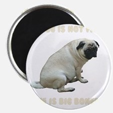 My Dog is Not Fat Pug Magnet