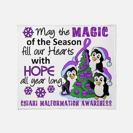 D Chiari Malformation Christmas Peng Throw Blanket
