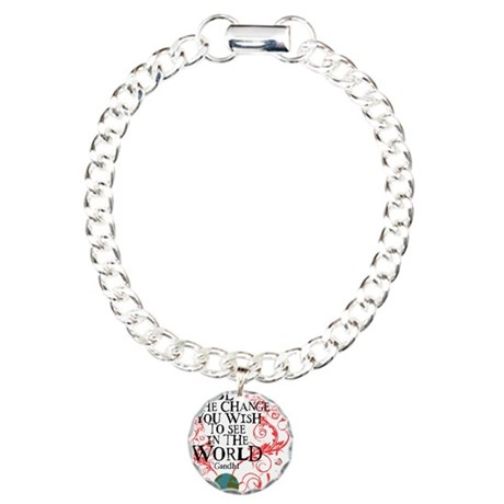 Be the Change Earth - Re Charm Bracelet, One Charm