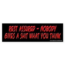 Nobody Gives a Sh* What You Think Bumper Bumper Sticker