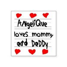 """Angelique Loves Mommy and D Square Sticker 3"""" x 3"""""""