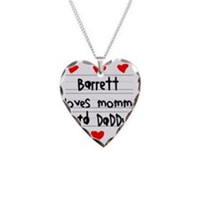 Barrett Loves Mommy and Daddy Necklace