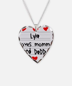 Lyla Loves Mommy and Daddy Necklace