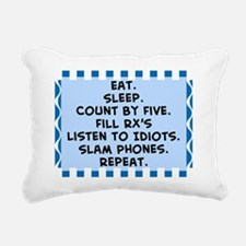 Pharmacist eat sleep bla Rectangular Canvas Pillow