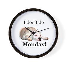 Dogo Monday Wall Clock