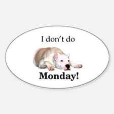 Dogo Monday Oval Decal