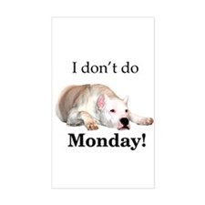 Dogo Monday Rectangle Decal