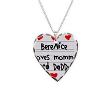 Berenice Loves Mommy and Dadd Necklace