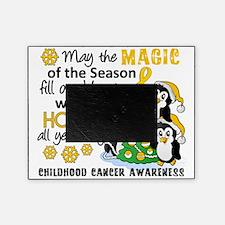 D Childhood Cancer Christmas Penguin Picture Frame