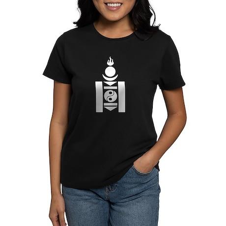 Soyombo White Women's Dark T-Shirt