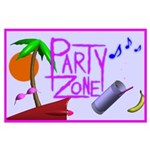 Party Zone Tropical Day Large Poster