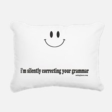 silently correcting your Rectangular Canvas Pillow