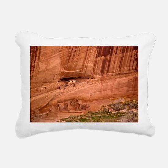 Cave dwellings Rectangular Canvas Pillow