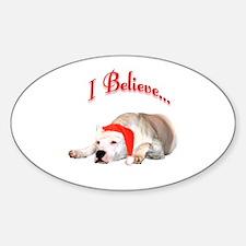 Dogo I Believe Oval Decal
