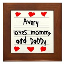 Avery Loves Mommy and Daddy Framed Tile
