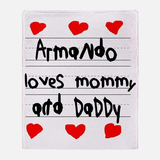 Armando Loves Mommy and Daddy Throw Blanket