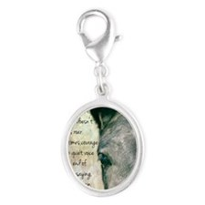 Courage Silver Oval Charm