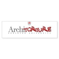Architorture Bumper Bumper Sticker