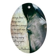 Courage Oval Ornament