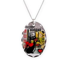 france cat cell case Necklace